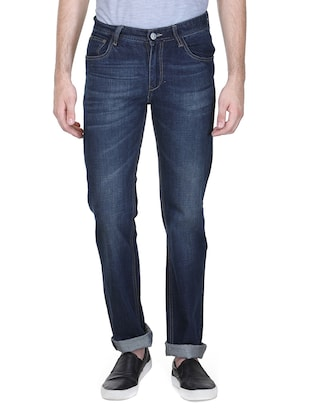 dark blue cotton jeans