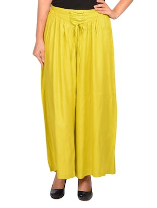 yellow cotton palazzos