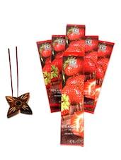 Pack Of 6 Strawberry Incense Sticks - Hosley