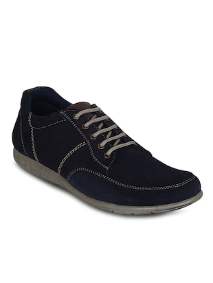 Blue Suede Leather Shoe