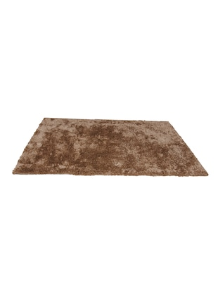 AVIRA HOME BEIGE SHAGGY CARPET-5x7 FEET WITH 100% COTTON ANTI-SLIP BACKING & 100% MICROFIBER FRONT