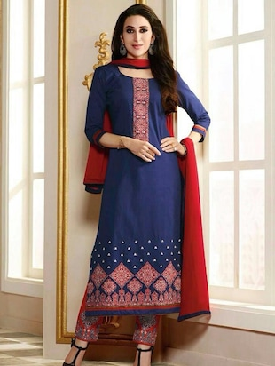 multi colored georgette semistitched suit