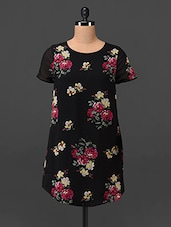 Floral Printed Polygeorgette Tunic - Oxolloxo