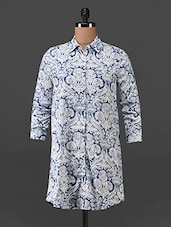 Floral Printed Polyester Shirt - Oxolloxo