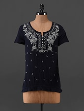 Floral Printed Cotton Top - Oxolloxo