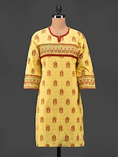 Printed Cotton Kurta - Adyana