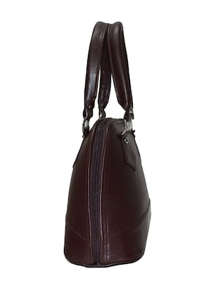 brown leatherette handbag - 10551407 - Standard Image - 5