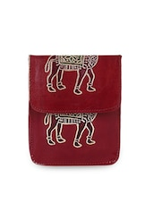 Camel Print Leather Sling Bag - Bags Craze