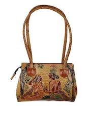 Radhe Krishna Print Leather Hand Bag - Bags Craze