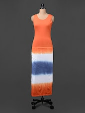 Tie & Dye Sleeveless Knitted Viscose Maxi Dress - Colbrii