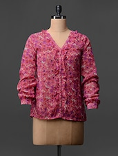 Printed Long Sleeves Georgette Shirt - Colbrii