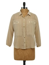 Quarter Sleeves Georgette Shirt - Imu