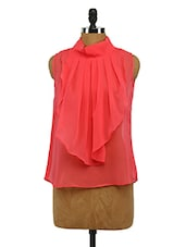 Pink Front Frills Georgette Top - Imu