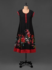 Floral Printed  Mega Sleeves Polyester Kurti - UPTOWNGALERIA