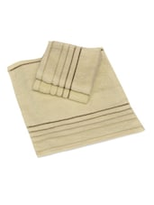 POLYWEFT BORDER FACE TOWEL-SET OF 3 - Avira Home