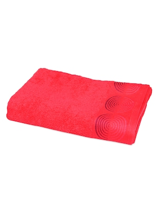 CONCENTRIC CIRCLES EMBROIDERED BORDER BATH TOWEL