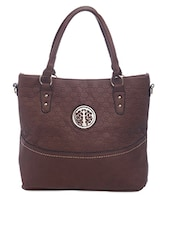 Honeycomb Pattern Cutwork Handbag - SATCHEL Bags