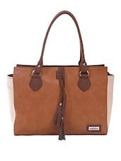 Shoulder Bag With Contrast Side Paneled - Adaira