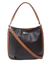 Shoulder Bag With Contrast Side Paneled & Sling - Adaira