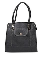 Black PU Flight Handbag - ADISA