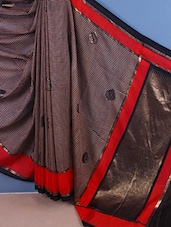 Checks Printed Bhagalpur Silk Saree - ROOP KASHISH