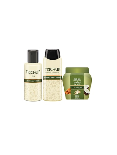 Trichup Healthy Hair Care Kit (Healthy Long & Strong Oil (200ml), Health Long & Strong Shampoo (200ml), Healthy, Long & Strong C - 10591644 - Standard Image - 1