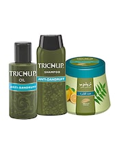 Trichup Scalp Nourishment Kit (Anti - Dandruff Oil (100ml), Anti - Dandruff Shampoo (200ml), Anti - Dandruff Cream (200ml)) - By