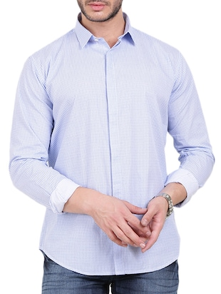 white cotton casual shirt