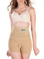 beige poly spandex fat burning shapewear -  online shopping for shapewear