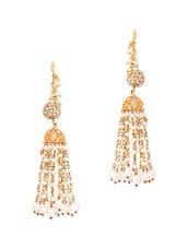Gold Metal Alloy & Beads Earrings - Art Mannia