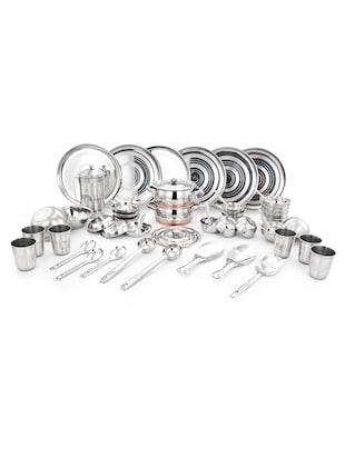 Stainless Steel Dinner Set of 51 Pcs