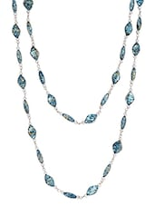 Blue Metal Alloy & Beads Neckpieces - Art Mannia