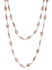 Brown Metal Alloy & Beads Neckpieces - Art Mannia