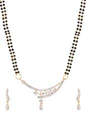 Gold Black Metal Alloy & Beads Neckpieces - Art Mannia
