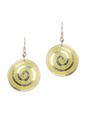 Light Green Metal Alloy Earrings - Art Mannia
