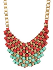 Red Green Metal Alloy Neckpieces - Art Mannia
