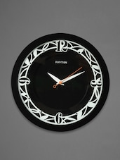 Black Plastic Wall Clock - Rhythm