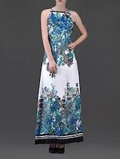 Floral Print Rayon Maxi Dress - Eavan