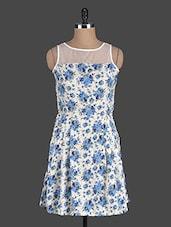 Off White Floral Printed Dress - Eavan