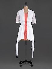 White Asymmetric Dress - Eavan