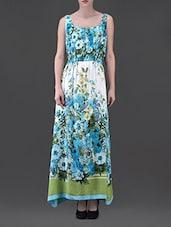Floral Print Sleeveless Rayon Maxi Dress - Eavan