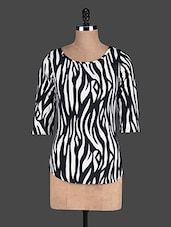 Black And White Printed Top - Eavan