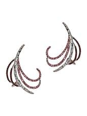 Sparkles Crystal Embellished Cuff Earrings - Crunchy Fashion
