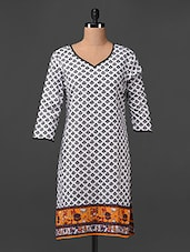Tribal Bottom Print Cotton Printed Kurta - Swanky