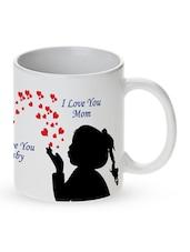 """Love You Mom"" Printed Ceramic Mug - Mugwala"