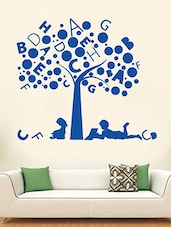 Hoopoe Decor Kids Studying Under Alphabet Tree Wall Stickers And Decals - By