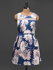 Floral Print Sleeveless Dress - Besiva