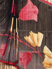 Floral Printed Sheer Saree - Siya