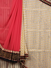 Zari Work Border Sheer Half & Half Saree - Siya