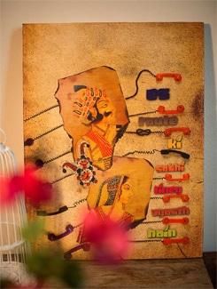 Is Route Ki Sabhi Liney Vyasth Hai Wall Art - TUNGS10